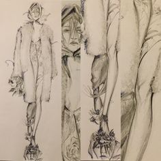 Christopher Kane, Illustration by Davide Petraroli
