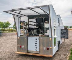 Solar coffee truck mobile espresso bar