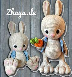 Adorable amigurumi bunny in vest (free crochet pattern) // Horgolt mellényes nyuszi (ingyenes magyar amigurumi minta) // Mindy - craft tutorial collection // #crafts #DIY #craftTutorial #tutorial