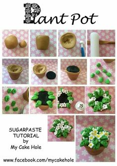 how to: miniature flowering plant (suitable for polymer clay) Polymer Clay Kunst, Polymer Clay Miniatures, Fimo Clay, Polymer Clay Projects, Polymer Clay Charms, Polymer Clay Jewelry, Clay Crafts, Diy Fimo, Crea Fimo