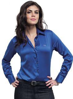 f953c22339f06 28 melhores imagens de Camisas Sociais Femininas Listradas