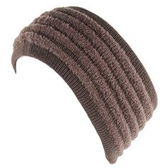 260c21782b4 BYOS Chic Cold Weather Enhanced Warm Fleece Lined Crochet Knit Stretchy Fit  Headband Ear Warmer