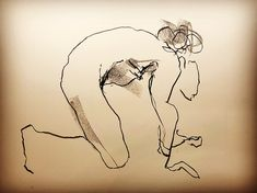 "READY STEADY - 2 min position  Lefty Nude Art ""My art is drawn with the 'wrong' hand to let go and not get stuck in details and perfection. All positions are between 30 seconds and 5 minutes."" #croquis #kroki #nudeart #charcoal #art #lifedrawing #leftynudeart #malinhelgesson #misslefty"