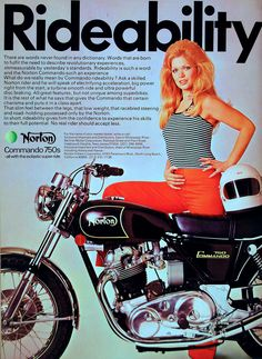 https://flic.kr/p/5waAnN | Vintage Advertisement | Ad for 1972 Norton Commando