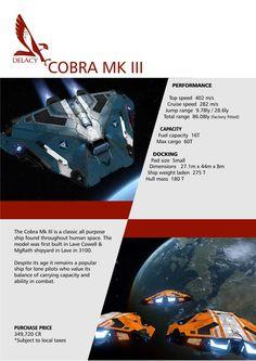 Elite: Dangerous Cobra Mk III Falcon DeLacy Ships Brochure