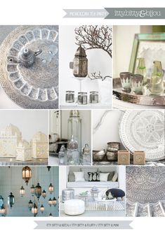 Moroccan Tea Party mood board for garden parties, weddings or showers