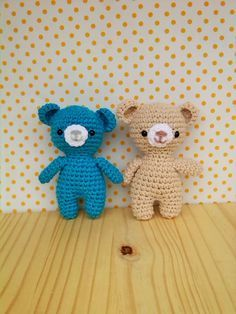 HOLA!!!  Hoy patrón gratuito propio de ositos, espero que os guste :)                                     CABEZA-CUERPO   v1 anil... Crochet Amigurumi, Amigurumi Toys, Crochet Dolls, Crochet Baby, Crochet Cactus, Filet Crochet, Teddy Bear Patterns Free, Stuffed Toys Patterns, Loom Knitting