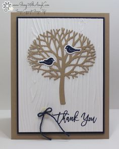 Thoughtful Branches, Beautiful Branches Thinlits, Woodgrain EF, Night of Navy Baker's Twine - Stamp Ink Paper 61 (exterior)