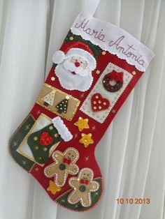 Bota Em Feltro Para O Natal | Com Agulha e Com Carinho | Elo7