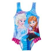 Disney's Frozen Anna & Elsa Baby Girl Ruffle One-Piece Swimsuit