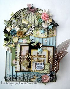 Beautiful....love the cute little owls; cute way to decorate the birdcage mini album I bought