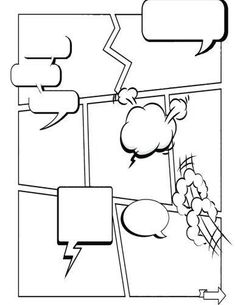 Free printables comic strips to use for story telling (3