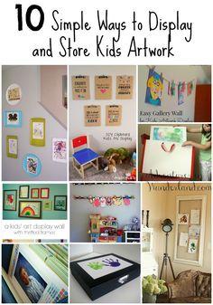 10 Simple Ways to Display and Store Kids Artwork