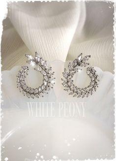 Greek Goddess Bridal Crystal Laurel Leaf by WhitePeonybyKC on Etsy