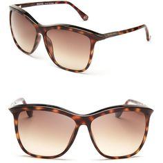 MICHAEL Michael Kors Ariana Oversized Sunglasses ($144) ❤ liked on Polyvore