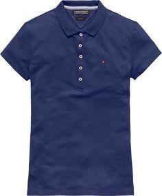 Klassisches, feminines Slim Fit Poloshirt von Tommy Hilfiger mit verlängerter Knopfleiste, in vielen Trendfarben erhältlich.96% Baumwolle, 4% Elastan...