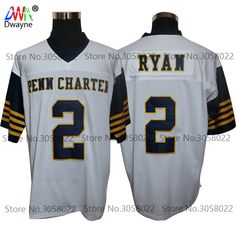 326e9a46f 2017 Vintage Cheap American Football Jersey Matt Ryan 2 William Pen n  Charter School Throwback jerseys Retro Stitched Shirts
