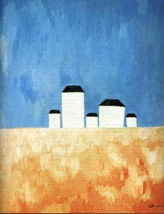Landscape with Five Houses by @artistmalevich #suprematism