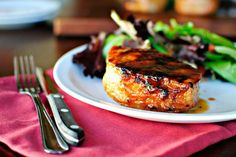 Grilled Maple Honey Glazed Pork Chops--cuz  I NEED a new porkchop recipe (also gives directions to bake them)