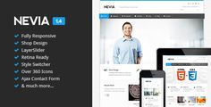 Twitter API 1.1 Support (Read Guide)Nevia is the awesome responsive HTML5 template created for corporate and portfolio websites – business site needn't be boring! It features a very clean and min...