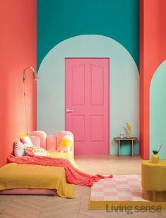 Home Interior Living Room Room Inspiration, Interior Inspiration, Furniture Inspiration, House Colors, Room Colors, Door Design, House Design, Eclectic Decor, Quirky Decor