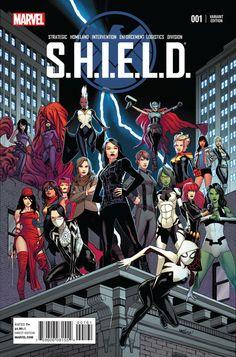 S.H.I.E.L.D. #1 Women of Marvel variant by David Marquez.
