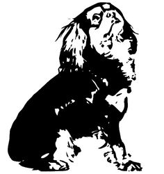 silhouette cavalier king charles spaniel