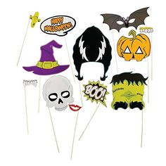 Get scary for your Halloween photo ops with these photo booth stick props! Check out masks, hair up-does and more to make your Halloween party's photo booth or selfie space an even bigger draw. 2 - x 1 - props on wooden sticks. Halloween Photo Booth Props, Halloween Fotos, Halloween Masks, Halloween Pumpkins, Halloween Diy, Halloween 2020, Happy Halloween, Diy Photo Booth Props, Halloween Birthday