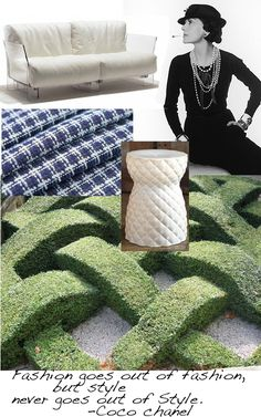 Garden Design inspiration from Coco Chanel -an icon of fashion design. both a symbol of modernism (at least for her time) and …