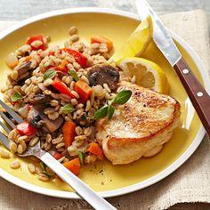 Turkey Cutlets with Barley