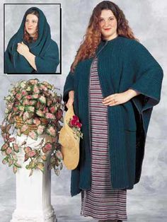 Crochet yourself this gorgeous winter cape with attached scarf at a fraction of the retail cost. It's eye-catching, warm and elegant! Size: One size fits most.Skill Level: Advanced Beginner