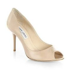Jimmy Choo Evelyn Patent Leather Peep-Toe Pumps - Google Search