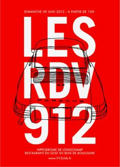 REd and white poster design Porsche 912, Porsche Carrera, Graphic Design Typography, Branding Design, Weird Words, Car Posters, Communication Design, Creative Advertising, Design Museum