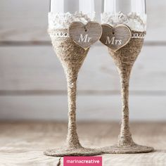 Wedding glasses: ideas for decorating