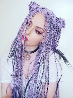 donalovehair on Instagram Purple Box Braids, White Girl Braids, Blonde Box Braids, Girls Braids, Afro Braids, Colored Braids, Braids With Extensions, Silk Hair, Box Braids Hairstyles