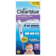 Clearblue Digital Ovulation Test is the easiest ovulation test to read. 10 x Clearblue Digital Ovulation Test Sticks. 1 x Clearblue Test Holder. There are many factors that can affect your fertility. One Step, Family Planning, Pregnancy Test, Getting Pregnant, Pilates, United Kingdom, Beauty Products, Health