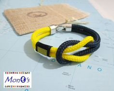 Bracciale nautico con chiusura in Zamak.... Nautical Bracelet with Zamak clasp di GioECo su Etsy