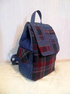 Denim backpack ,jeans backpack, Travel backpack, Hipster backpack, women backpack, school backpack, grunge backpack