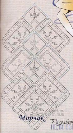 ленточное кружево 8 - схема узора