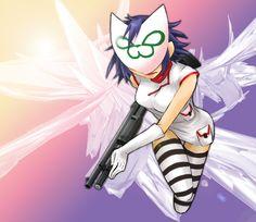 Pretty dress, pretty mask, pretty gun... wait what?!?
