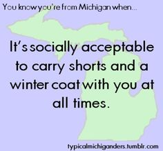 So True~  You Know You're From Michigan When...