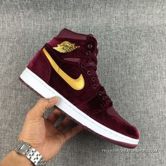 81c56ef887cc Latest Air Jordan 1 Retro High Velvet Night Maroon