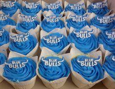 Blue bulls cupcakes