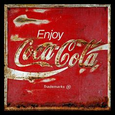 Old Coca Cola sign..