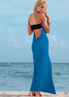 Low cowl back maxi dress in the VENUS Line of Dresses for Women