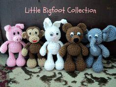 Amigurumi To Go!: Little Bigfoot Bunny Crochet Pattern -- PLEASE someone make these for Katelynn!!!