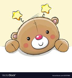 Illustration of Cute Drawing Teddy bear on a yellow background vector art, clipart and stock vectors. Teddy Bear Drawing Easy, Teddy Bear Sketch, Polar Bear Drawing, Cute Bear Drawings, Cartoon Drawings, Animal Drawings, Easy Drawings, Cartoon Art, Cute Polar Bear