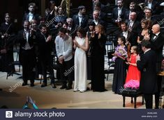 Moscow, Russia. 22nd Nov, 2019. MOSCOW, RUSSIA - NOVEMBER 22, 2019: Oboist Alexei Ogrintchouk, Lithuanian born Austrian violinist Julian Rachlin, French pianist Alexandre Kantorow, cello player Anastasia Kobekina, domra and mandolin player Ekaterina Mochalova, pianist Alexandra Dovgan, balalaika player Anastasia Tyurina, Russian pianist Denis Matsuev and Russian conductor Alexander Sladkovsky (L-R) after a gala concert at the 15th Crescendo Music Festival in the Large Hall of Zaryadye… Moscow Russia, Mandolin, Concert Hall, Conductors, Cello, Anastasia, Stock Photos, Female, Music