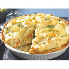 This tuna shepherd's pie by recipes+ is the perfect dinner option when your cupboard is bare, but for some frozen mixed veg, canned tuna and a couple of sheets of frozen pastry. Tuna Recipes, Salmon Recipes, Pie Recipes, Seafood Recipes, Vegetarian Recipes, Cooking Recipes, Cheap Recipes, Recipies, Cooking Fish