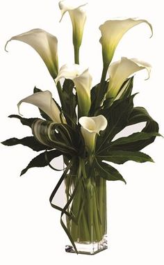 Funeral Flowers - calla lilies with greenery